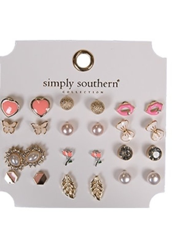 ****Simply Southern Stud Earring Set Lips