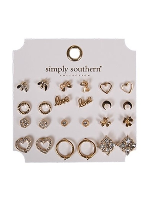 ****Simply Southern Stud Earring Set Love
