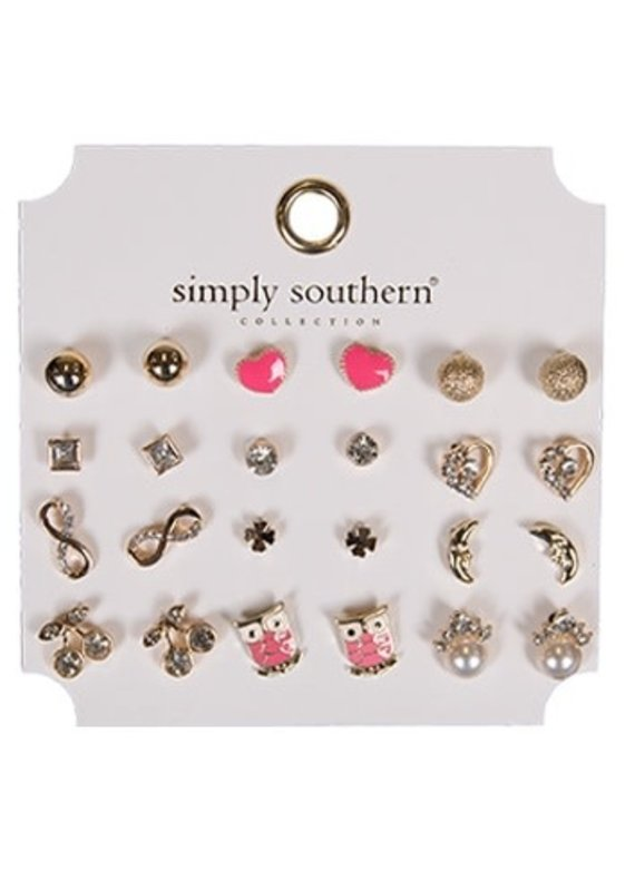 ****Simply Southern Stud Earring Set Owl