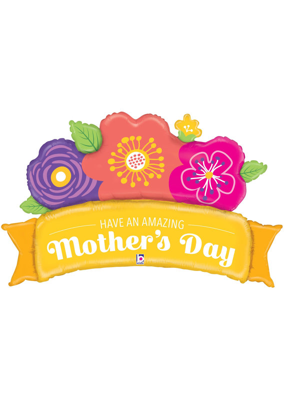 "****Amazing Mother's Day Banner 39"" Mylar Balloon"