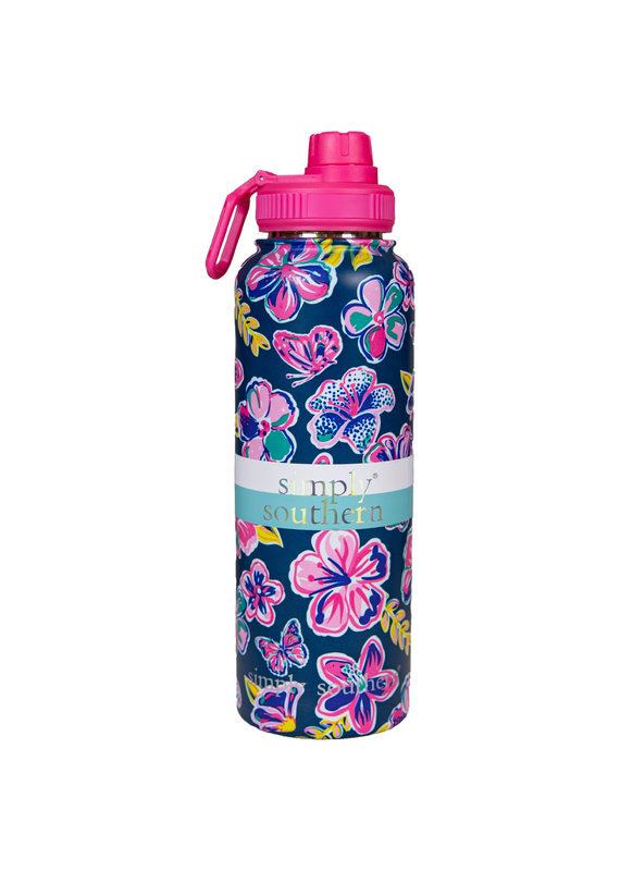 ****Simply Southern Water Bottle 40oz Butterfly