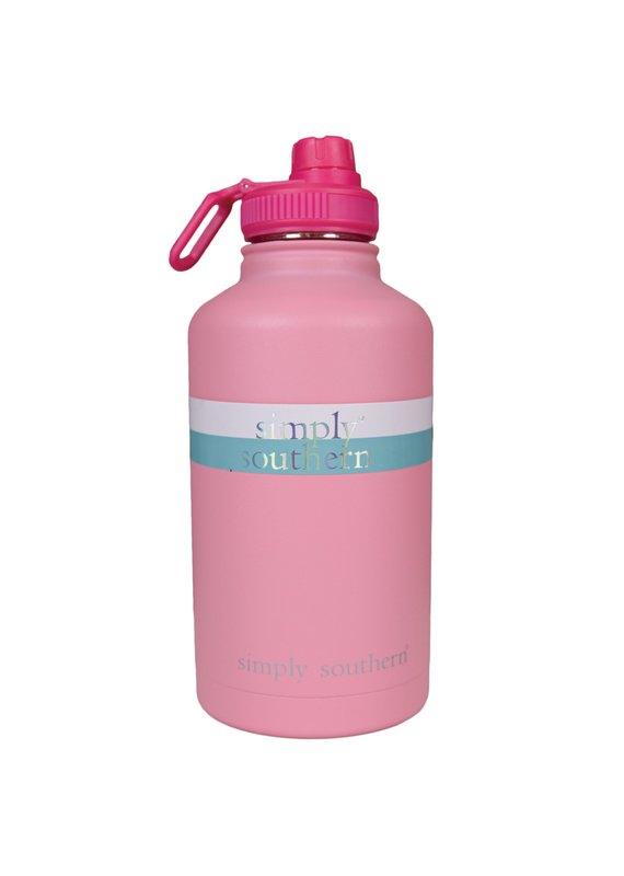 ****Simply Southern Water Bottle 64oz Blush