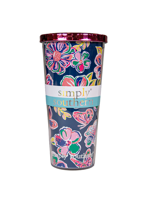 ****Simply Southern Plastic Tumbler Butterfly