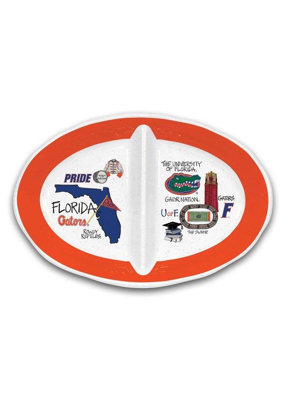****University of Florida Gators 2 Section Platter