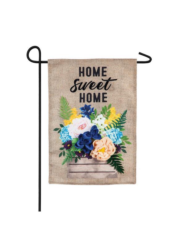 *****Wood Flower Crate Garden Burlap Flag