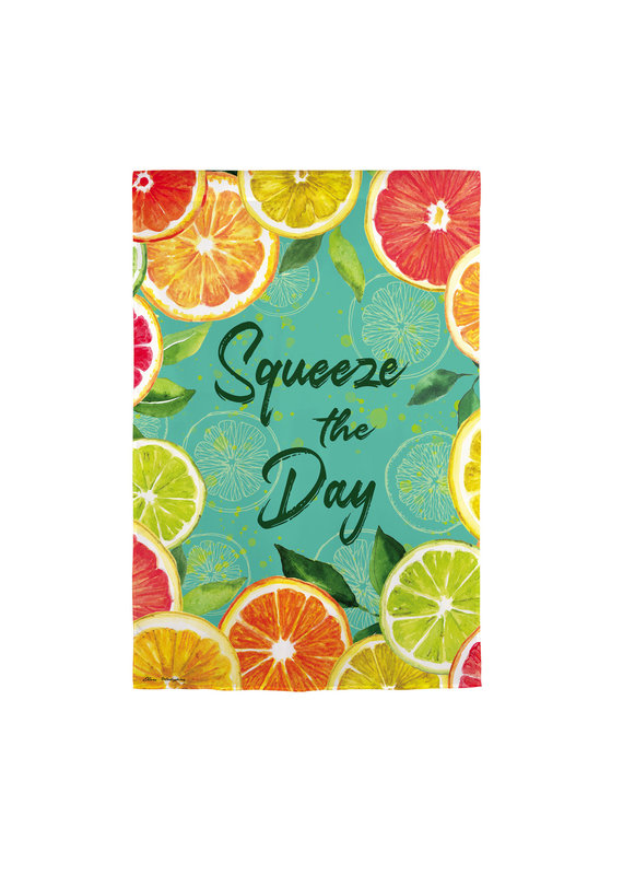 ****Citrus Squeeze the Day Garden Suede Flag