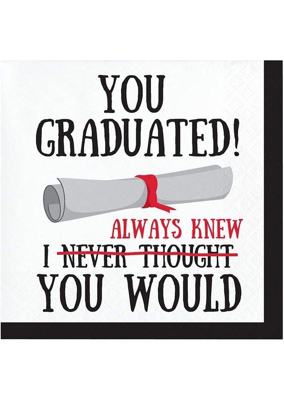 ****You Graduated Beverage Napkins 16ct