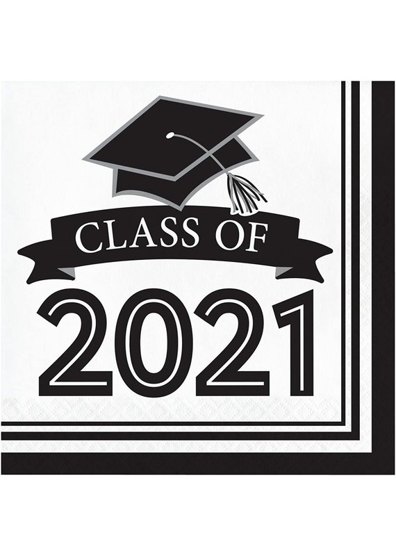 ****Class of 2021 White Lunch Napkins 36ct