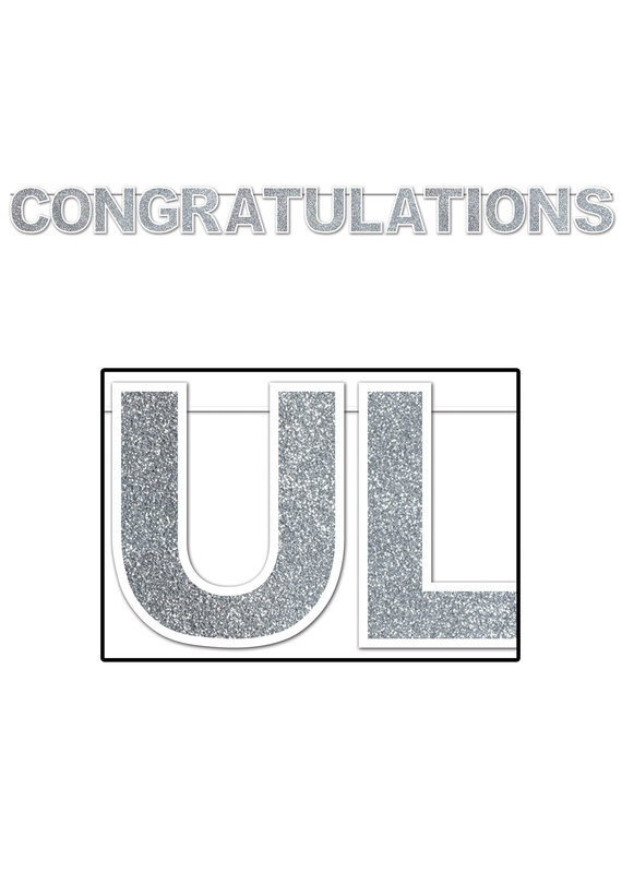 ****Glittered Congratulations Banner 11ft