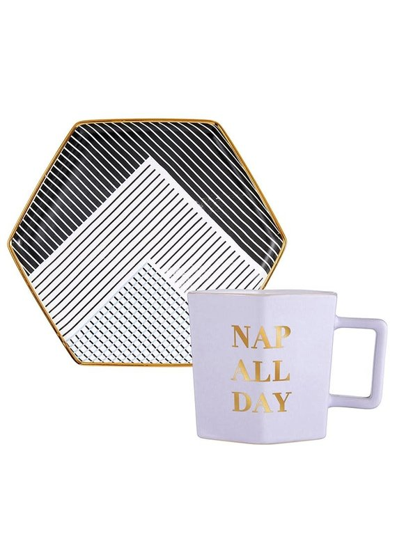 ****Nap All Day Tea Cup & Saucer
