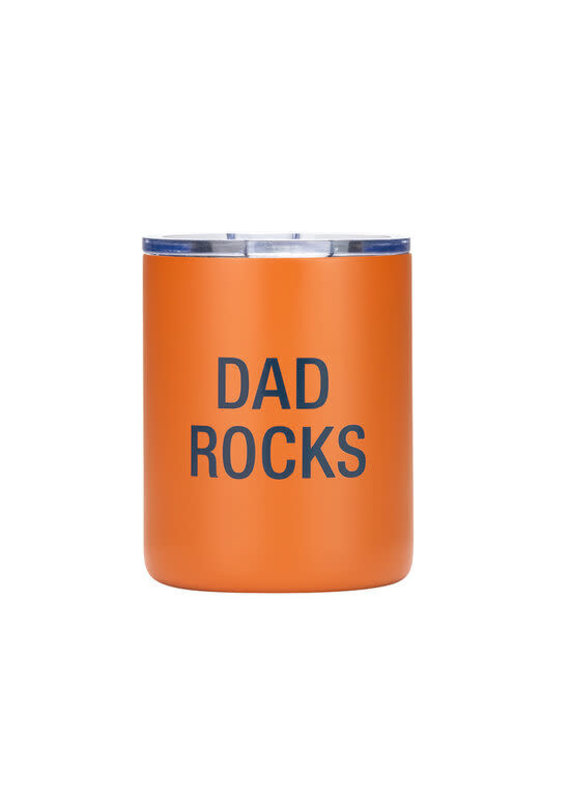 About Face Designs ****Dad Rocks Low Ball Tumbler