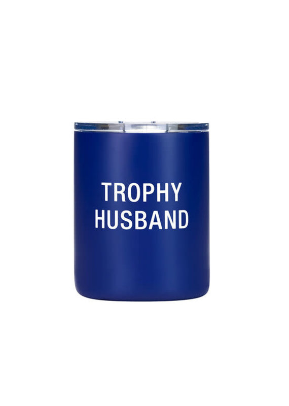 About Face Designs ****Trophy Husband Low Ball Tumbler