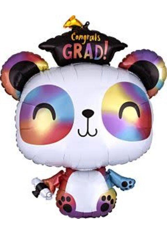 """****Graduation Panda Jumbo 29"""" Mylar Balloon"""