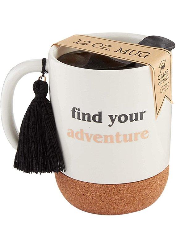 ****Find Adventure Graduation Travel Mug
