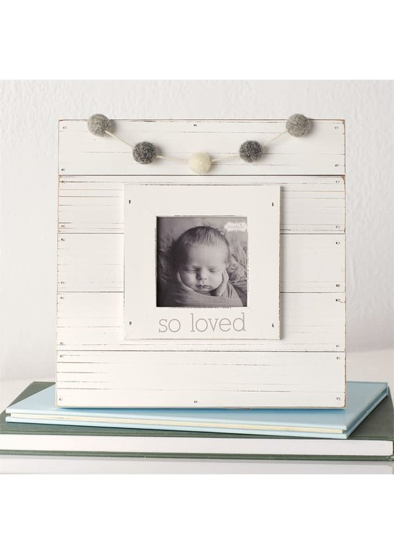 ****So Loved White Garland Frame