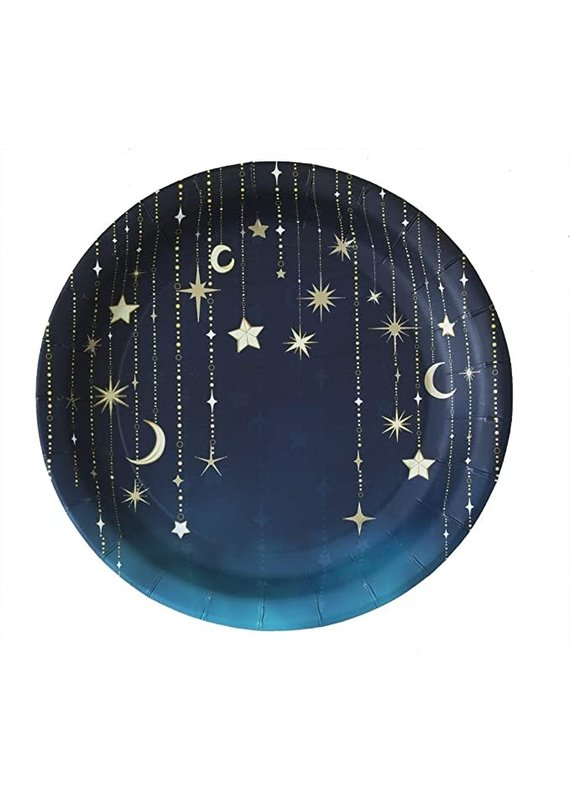 """****Starry Night 9"""" Paper Plate"""