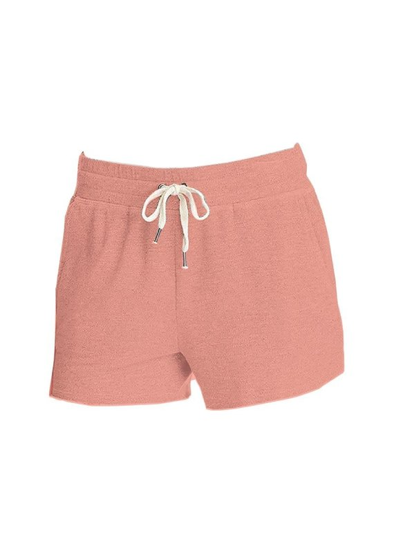****Simply Southern Terry Cloth Shorts Peach