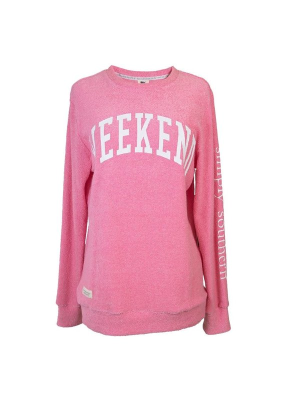 ****Simply Southern Terry Crew Neck Weekend