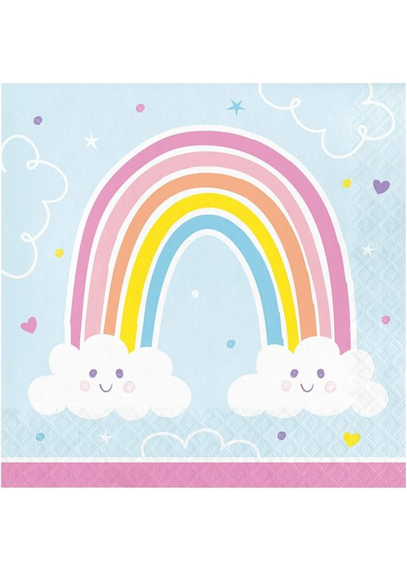 ****Happy Rainbow Lunch Napkins 16ct