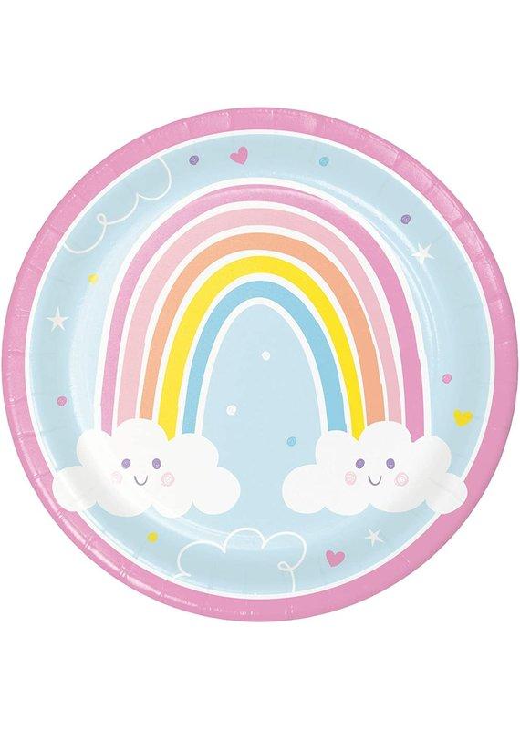 """****Happy Rainbow 9"""" Paper Plates 8ct"""