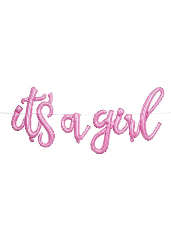 ****It's a Girl Air Filled Balloon Banner