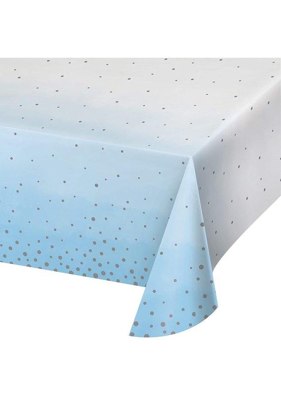 *****Blue Silver Celebration Paper Tablecover