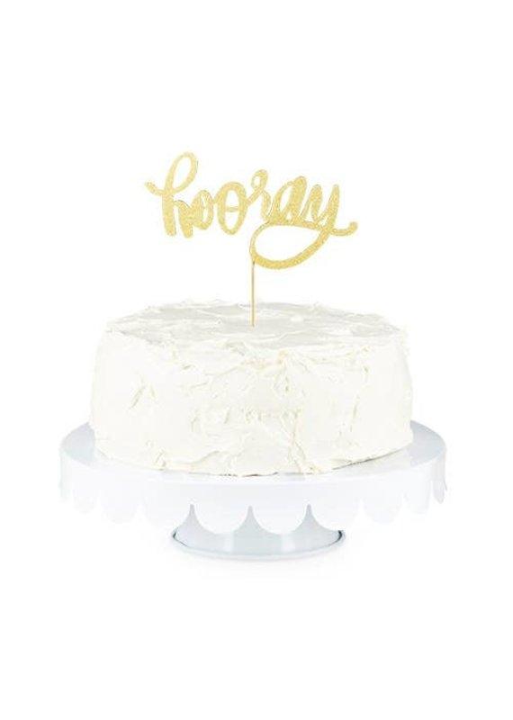 Cakewalk ****Gold Hooray Paper Cake Topper