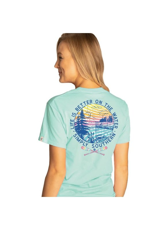 ****Simply Southern Short Sleeve Water Celedon