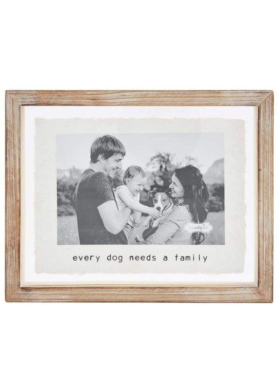 ****Glass Dog Family Photo Frame