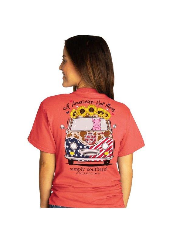 ****Simply Southern Short Sleeve American Sockeye
