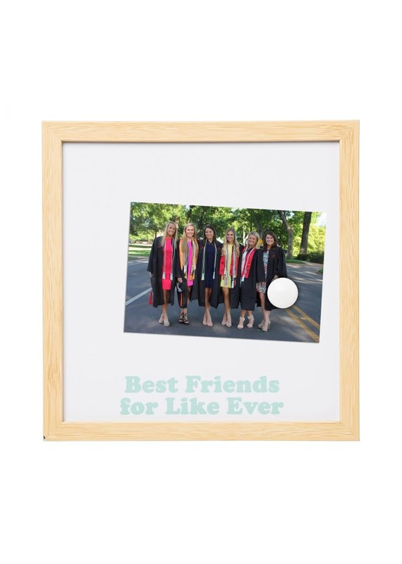 Totalee Gift ****Best Friends For Like Ever Magnetic Picture Frame