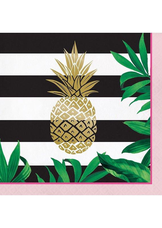 *****Pineapple Wedding Lunch Napkin 16ct