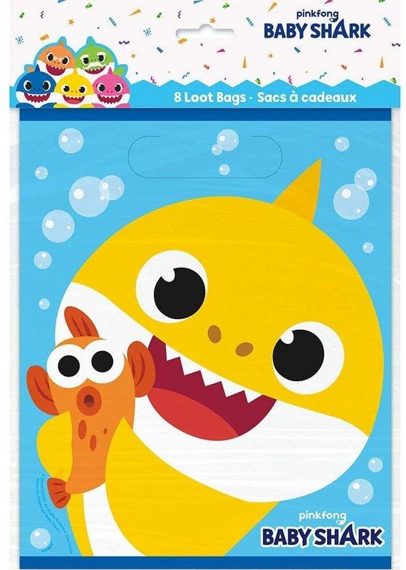 *****Baby Shark Loot Bags 8ct