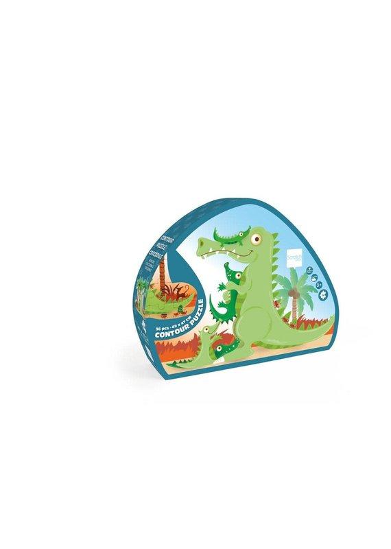 DAM *****Contour Puzzle Crocodile 36pc