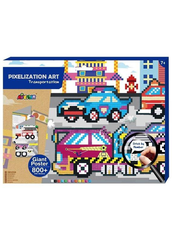 DAM ****Pixelation Art Transportation