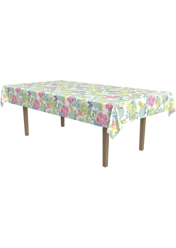 ****Succulents Plastic Tablecover