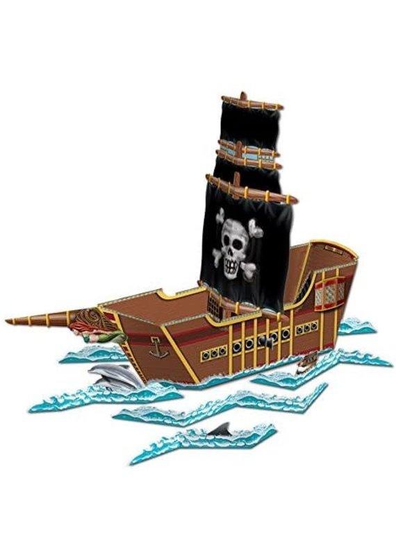 "*****Pirate Ship Centerpiece 25.5"" x 18.5"""