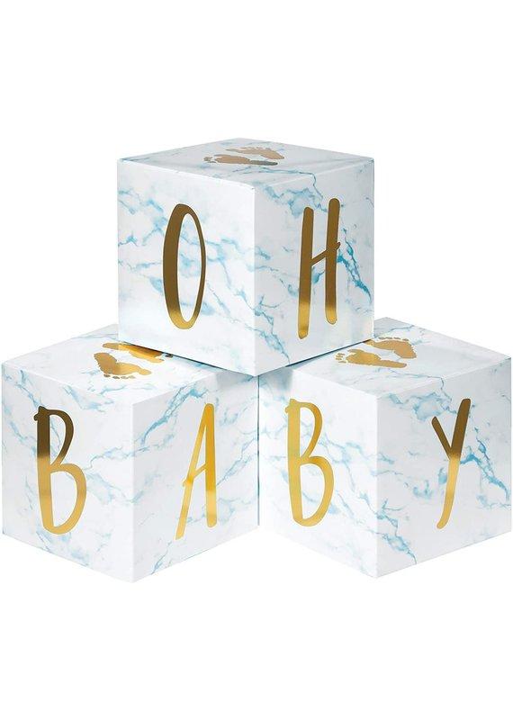 ****Baby Boy Blocks Centerpiece