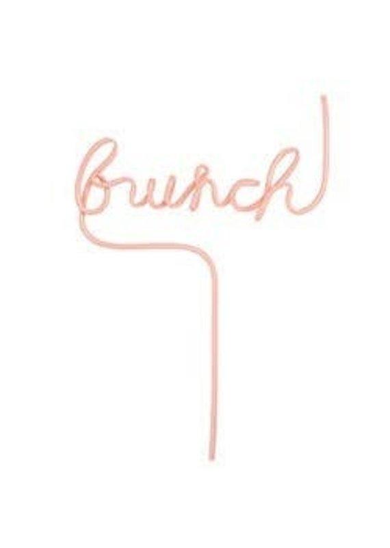 Santa Barbara Design Studio ****Brunch Word Straw
