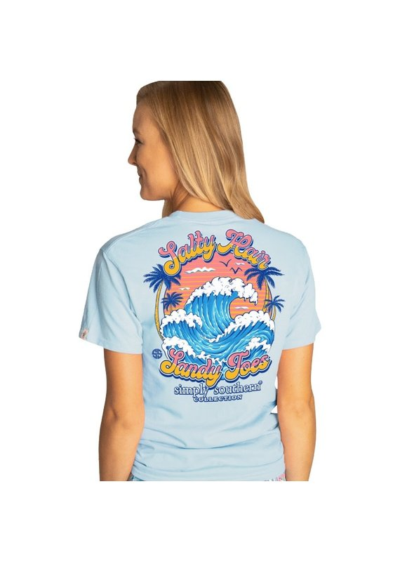 ****Simply Southern Short Sleeve Salty Ice