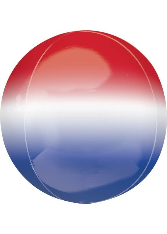 *****Patriotic Ombre Orbz Mylar Balloon
