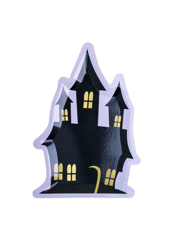 Jollity & Co *****Haunted House Die-Cut Dessert Plates
