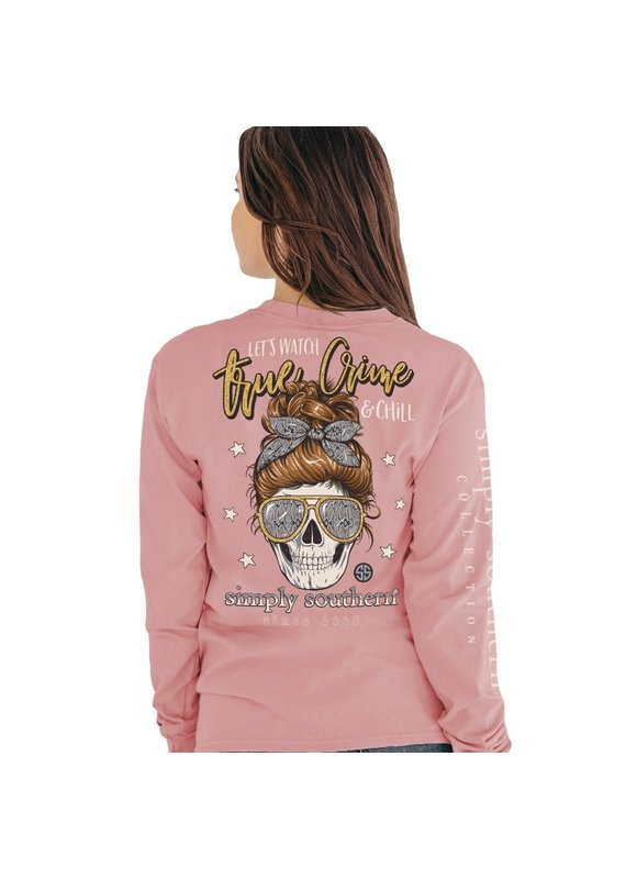 *****Simply Southern Long Sleeve True Crime Crepe
