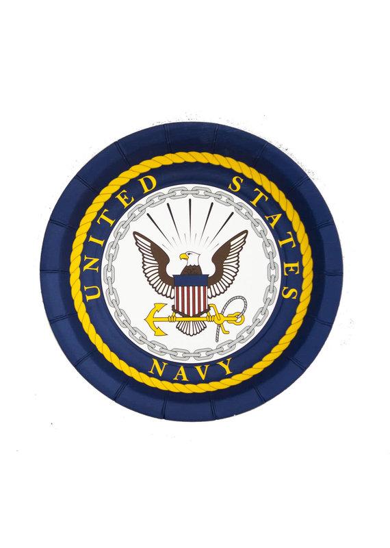 "*****United States Navy 7"" Dessert Plates 8ct"