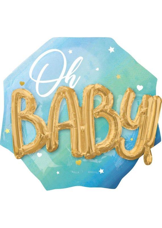 """*****Oh Baby! 3D Jumbo 30"""" Mylar Balloon"""