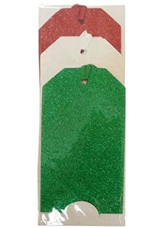 *****Christmas Fun Glitter Gift Tags 6ct