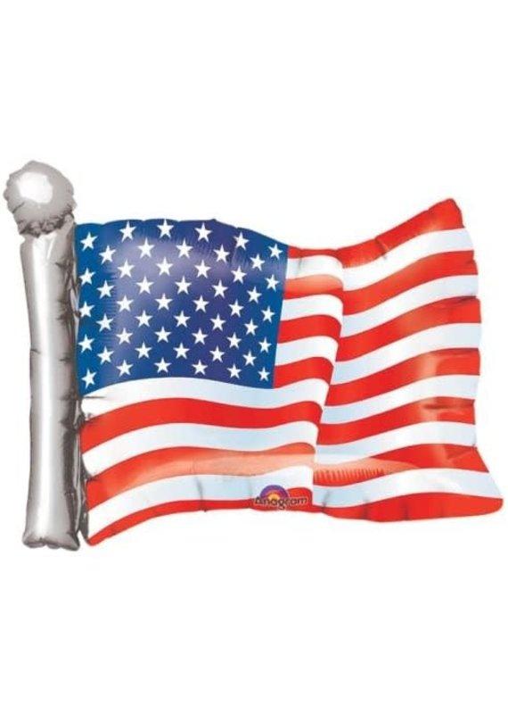 "*****USA American Flag 27"" Mylar Balloon"