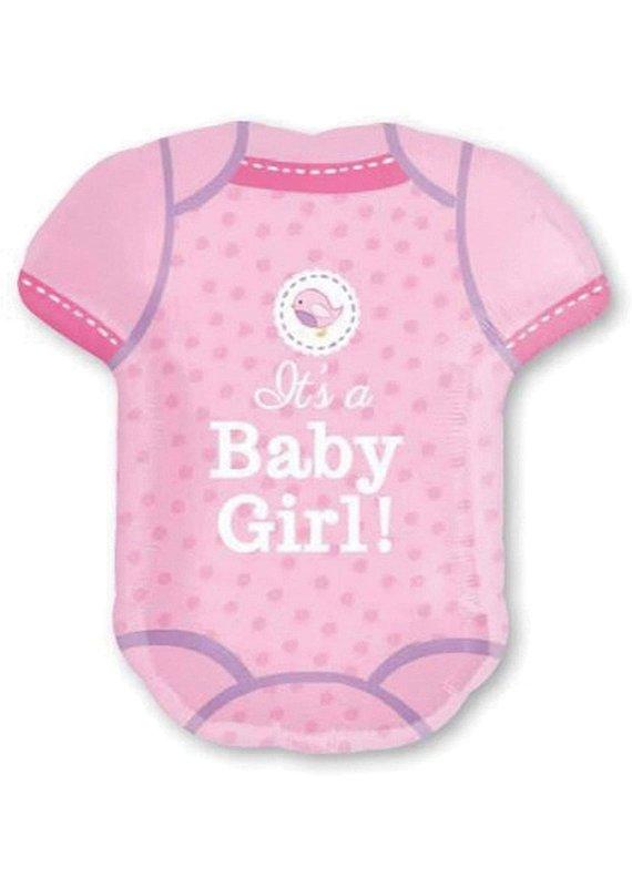 "*****Baby Girl Pink Onesie 24"" Mylar Balloon"