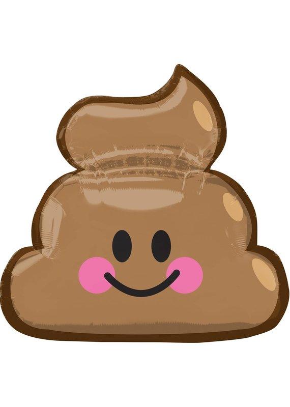*****Happy Poop Supershape Mylar Balloon