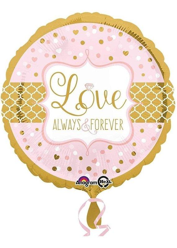 """*****Love Always & Forever 18"""" Mylar Balloon"""